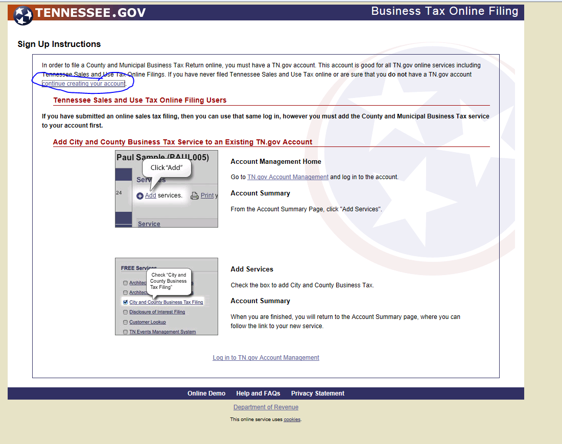 Electronically Filing And Paying Tn Business Tax Licenses
